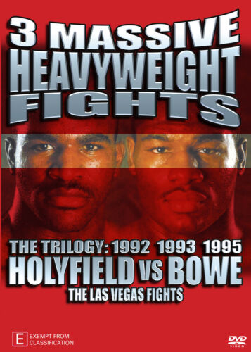 EVANDER HOLYFIELD VS RIDDICK BOWE TRILOGY BOXING DVD -LIMITED COLLECTORS EDITION