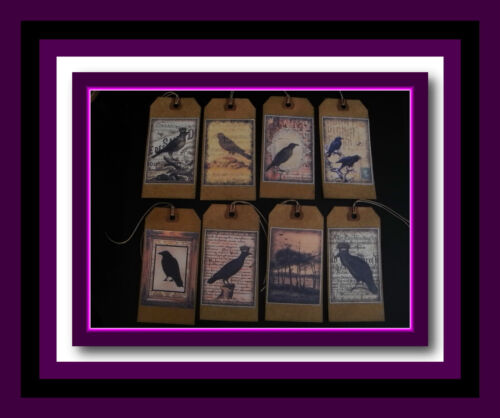 OLD CROW PRIMITIVE HANG TAGS - FALL DESIGNS - EIGHT DESIGNS