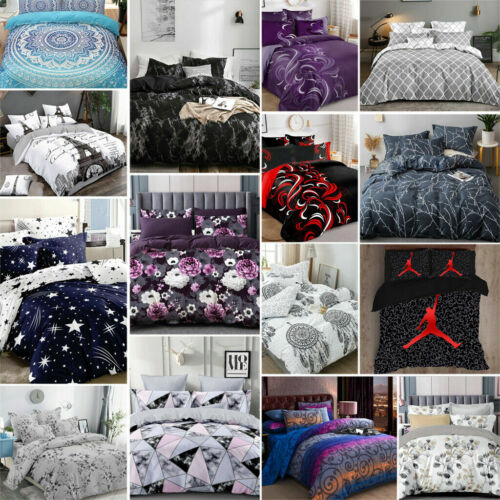 New Ultra Soft Quilt Doona Duvet Cover Set Single Double Queen Super King Bed <br/> 30 Designs ✓  6 Sizes ✓ More Coming Soon
