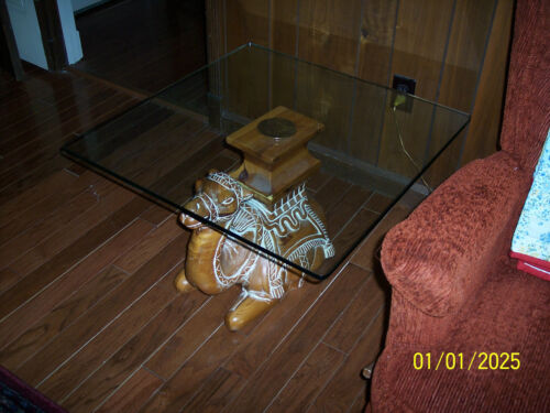 """* THOMASVILLE ACCENT TABLE """"CAMEL"""" COFFEE TABLE LAMP TABLE END TABLE ANIMAL"""