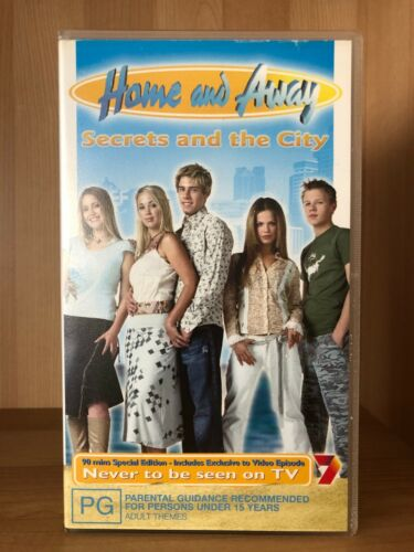 HOME AND AWAY ~ SECRETS AND THE CITY ~ NEVER TO BE SEEN ON TV ~ VHS VIDEO