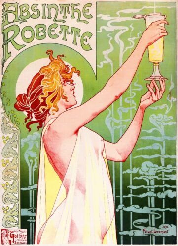 Absinthe Robette Vintage French France Poster Picture Print Advertisement