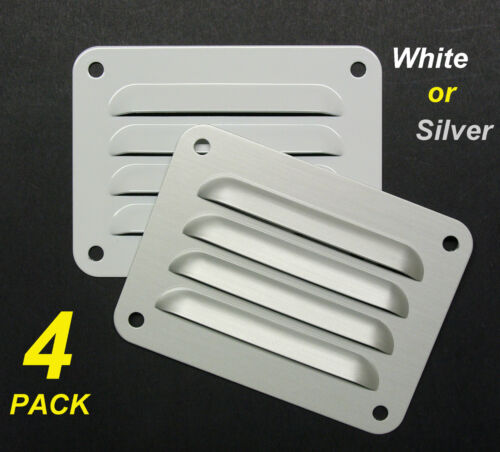 3 Pack Aluminium Air Vent 400 x 200mm White with Flyscreen eave ventilation
