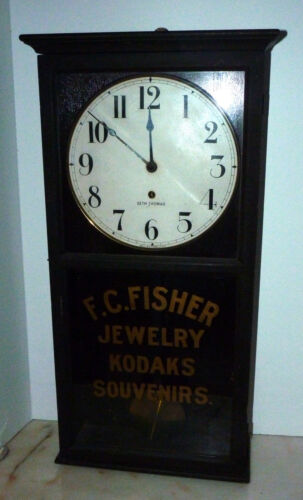 ANTIQUE 1880s SETH THOMAS WALL CLOCK MUSEUM PIECE KODAK ORIGINAL STORE DISPLAY f