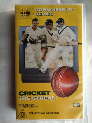 CRICKET - THE STREAK ~ CONNOISSEUR SERIES ~ RARE AS NEW VHS VIDEO  ~ **FREE POST