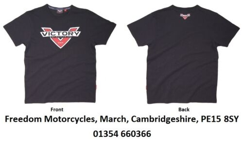 Victory Motorcycles - T-Shirt - BLACK - Logo Colour Badge..Genuine Victory Item