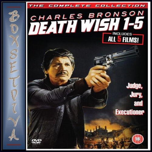 DEATH WISH - COMPLETE COLLECTION 1 2 3 4 & 5  **BRAND NEW DVD BOXSET **