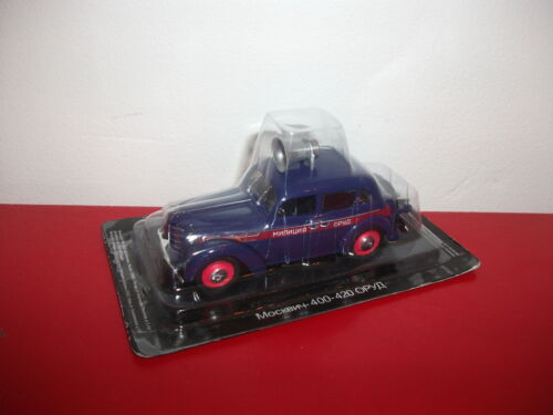 MOSKVITCH 400 420 police Service RUSSIE voiture russe 1/43