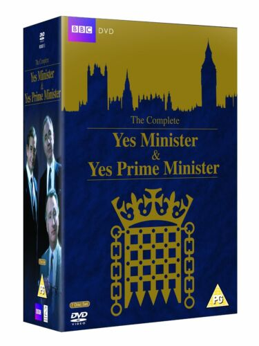 """YES MINISTER AND YES PRIME MINISTER COMPLETE SERIES DVD BOX SET 7 DISC R4 """"NEW"""""""