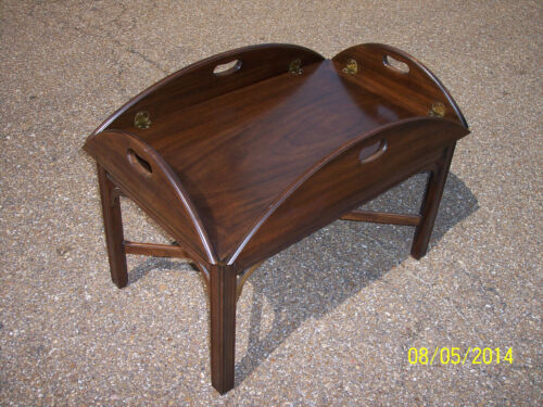 * HENKEL HARRIS Mahogany Butler Coffee Table STYLE: 5212 FINISH #29 DATED 1973