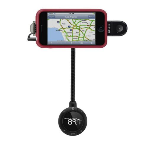 BELKIN TUNEBASE FM HANDSFREE TRANSMITTER FOR IPHONE 4 4S IPOD TOUCH NEW F8Z441AU