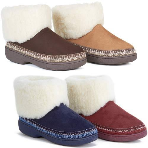 LADIES SLIPPERS WOMENS LUXURY WARM THERMAL BOOTS ANKLE BOOTIE FUR SHOES SIZE