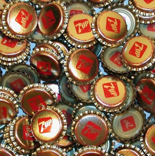 Soda pop bottle caps Lot of 25 plastic lined 7UP unused and new old stock