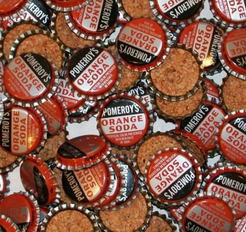 Soda pop bottle caps SUN RISE ROOT BEER #2 Lot of 2 cork lined new old stock