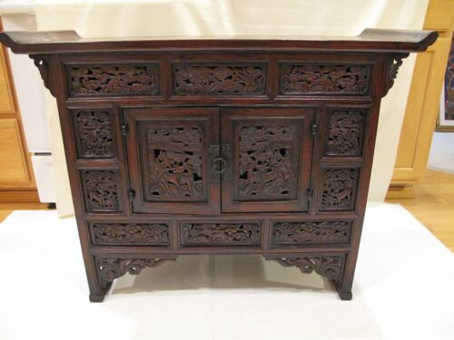 Very Rare Korean Late Joseon Dynasty Longevity Hand Carved Chest MuhLeeJang
