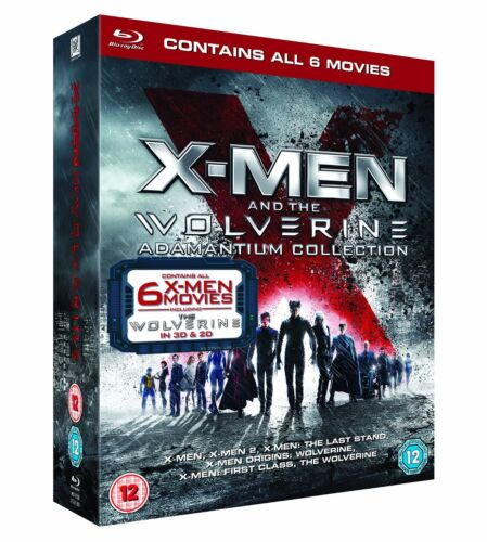 """X MEN AND THE WOLVERINE ADAMANTIUM COLLECTION 7 DISCS BOX SET BLU-RAY RB """"NEW"""""""