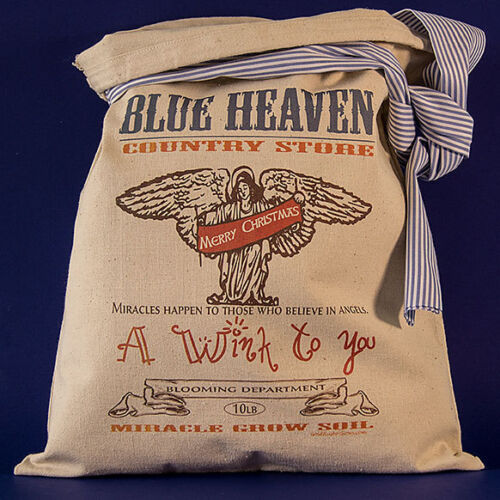 Miracle Grow Soil AMERICANA COUNTRY STORE DECOR Feedsack FlourSack Vintage Angel