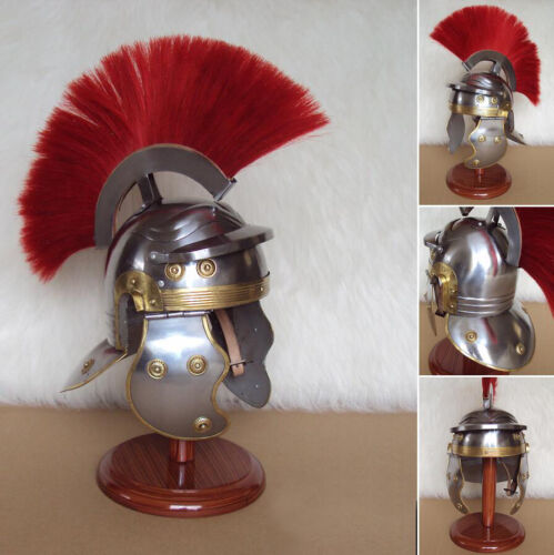 Medieval Roman Centurion Armor Helmet Spartan Costume helm w/ Leather Liner GiftReenactment & Reproductions - 156374