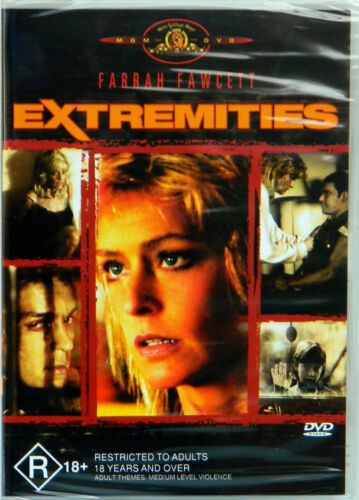 Farrah Fawcett In Extremities MGM DVD Rated R 18+ Region 4 Brand new Sealed