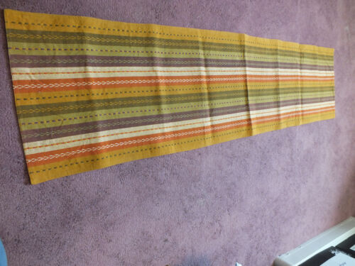 Collectible Tapestry Table Linen Labeled INDIA Gold Orange Green Plum Embroider