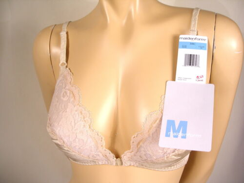 6848 Maidenform Bra Classic Sweet Nothings Lightly Lined Soft Cup Front Closure