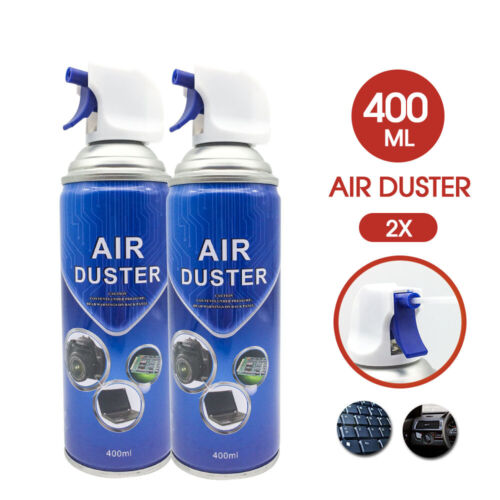 2x Compressed Air Duster Can Cleaner 400ml for Notebook Laptop PC Keyboard AU