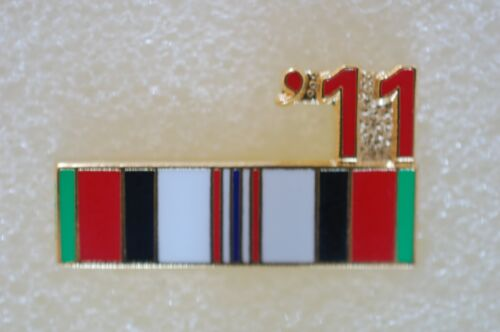 US USA '11 Afghanistan Ribbon Military Hat Lapel PinOther Militaria - 135