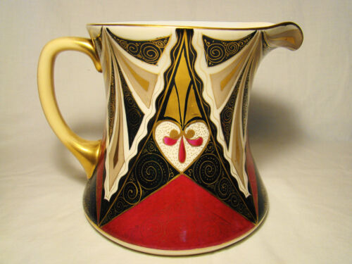 "Vienna Secessionist Art Porcelain Aesthetic Movement Pitcher 6 1/2"" h 1890-1918"
