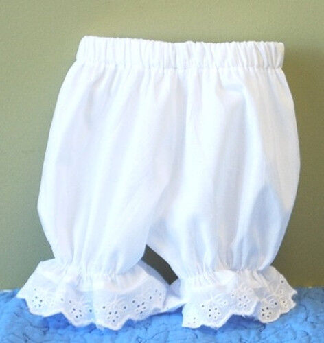 White Eyelet Lace Trimmed Knickers Bloomers Infant Baby Sizes