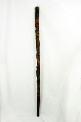 Antique Primitive Folk Art Walking Stick Cane ca1900