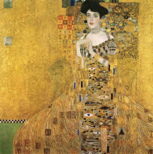 """'Woman in Gold'  repro quality canvas klimt  Portrait of Adele 39"""" x 39"""""""