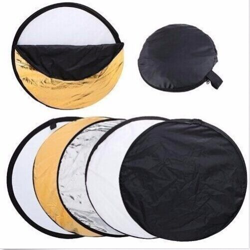 43in 110 cm 5 in 1 Camera Light Multi Collapsible Disc Reflector For Photograph