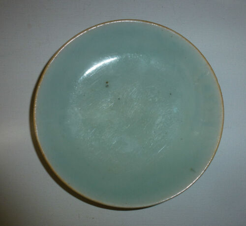 Chinese 19thC Porcelain Plate/Tray Celadon Glaze with Mark