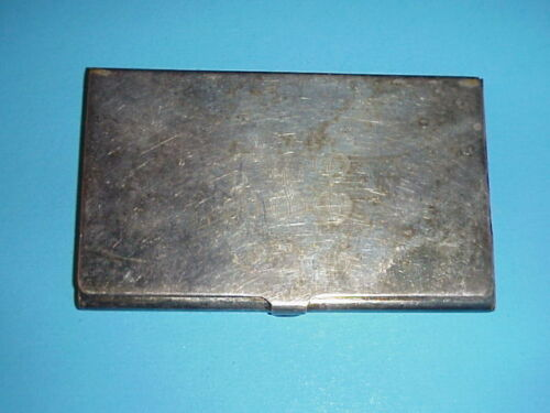 Vintage Reed & Barton 689 Silverplated Card Case Holder