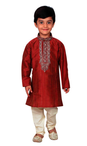 Boys Indian Pakistani sherwani Maroon Kurta Churidar kameez for EID London 856