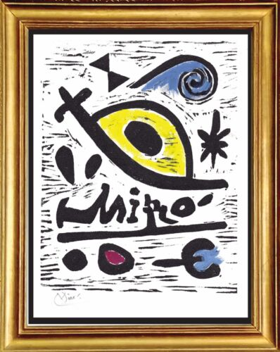 """Joan Miro Hand Signed Ltd Edition Print """"Composition 26"""" with COA (unframed)"""