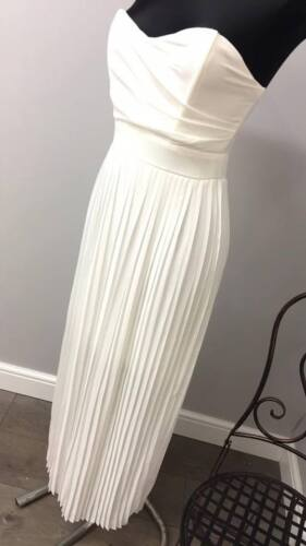 ASOS TFNC Maxi Prom Dress With Pleated Skirt RRP £45 (AS16/9)