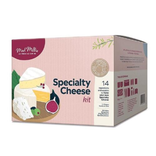 NEW MAD MILLIE  SPECIALTY CHEESE KIT Camembert Blue Vein Brie French Neufchatel