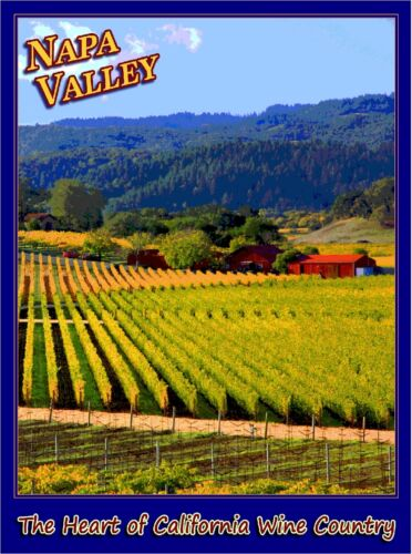 Napa Valley California Wine Country United States Travel Advertisement Poster 2