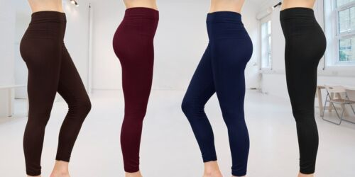 NEW  WOMEN LADIES THICK WINTER THERMAL LEGGINGS FLEECE LINING SIZE 8-22