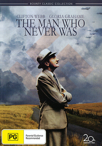 Clifton Webb Gloria Grahame THE MAN WHO NEVER WAS - TRUE STORY WAR CLASSIC DVD