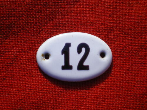 Imperial Russian Time Apartment Door Enamel Sign Number 12.