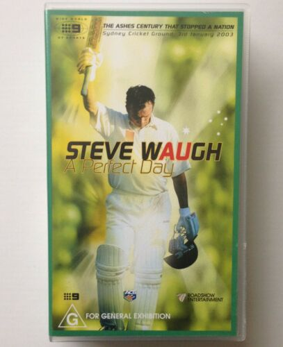 STEVE WAUGH ~ A PERFECT DAY ~ CRICKET ~ RARE VHS VIDEO