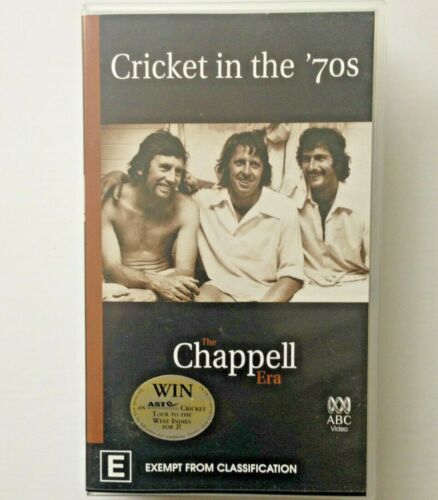 CRICKET IN THE 70's ~ THE CHAPPELL ERA ~ VHS VIDEO ~ 127 MINS ~ FREE POST