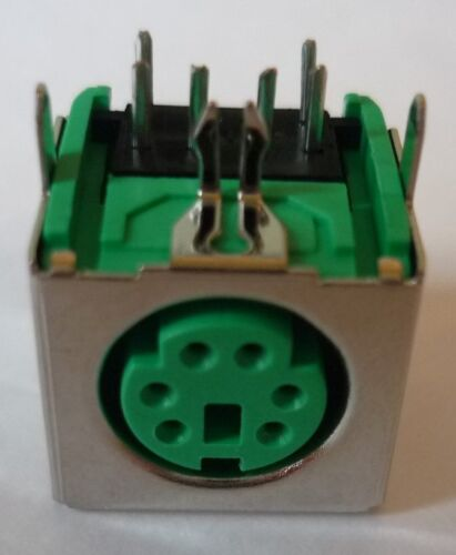 Ps/2 PS2 Socket Din Built-In Connectors Mounting Clutch Solder Green