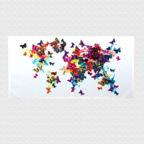 Butterfly Stretched Canvas Colourful Print Picture Wall Art 60 x 120 cm