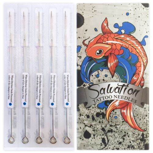 50 Salvation Sterile Tattoo Needles Box - Round Liner Shader Magnum or Mix Sizes
