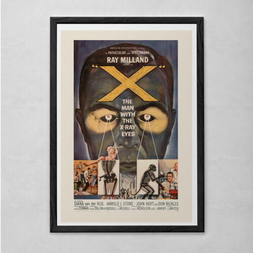 RETRO MOVIE POSTER - The Man with the X-Ray Eyes Cult Movie Poster Classic Movie