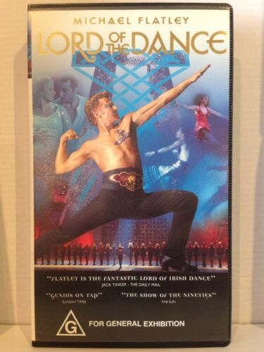 MICHAEL FLATLEY CONCERT ~ LORD OF THE DANCE ~ VHS VIDEO ~ 92 MINS
