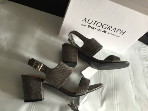 BNIB Ladies Sz 7 Autograph Step On Air Brand Stunning Soft Grey Sandals RRP $70